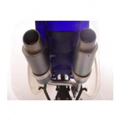 Escape para chasis CRF50  con doble salida de silencioso  Realizado en acero alta calidad cromado