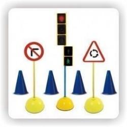 Kit señales para educación vial, pack standar