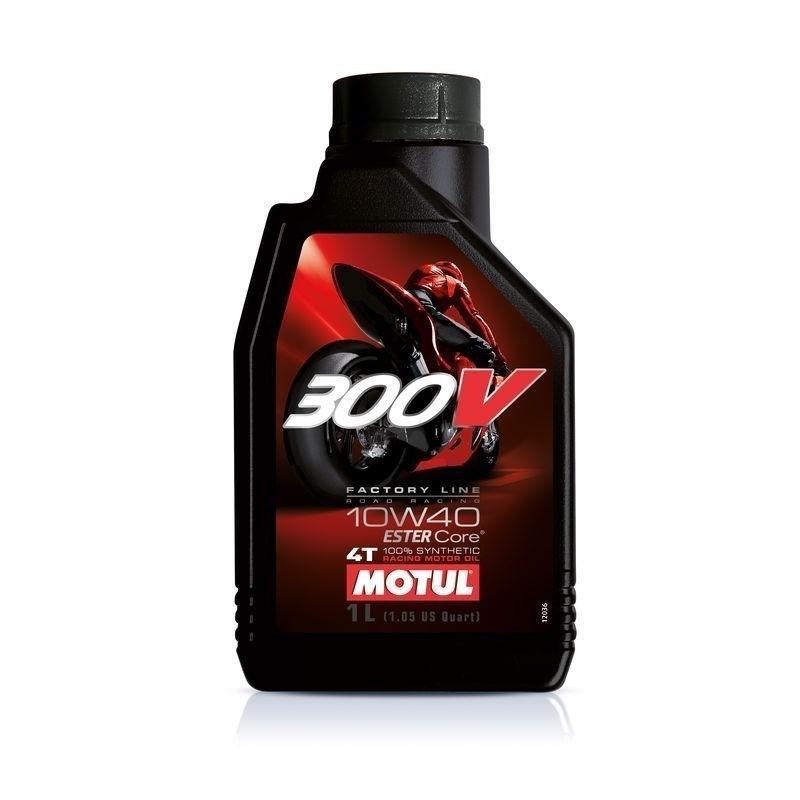 Aceite motor Motul 300V 1litro, 10W40 especial competición