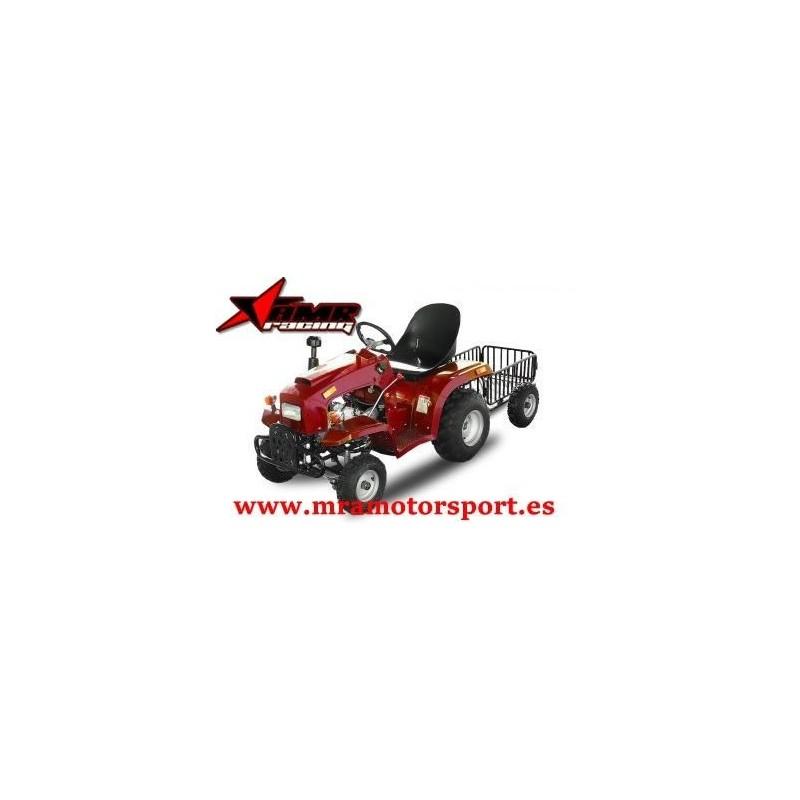 Tractor para niños, 110 c.c., semiautomático, marcha atrás, remolque