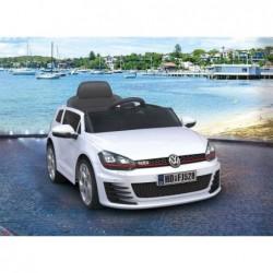 Coche eléctrico  Golf GTI 12v, mando 2.4g, luces de led, asiento en piel, amortiguadores en las cuatro ruedas