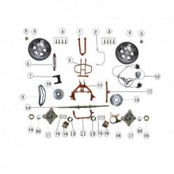 Cubo rueda trasero quad Jinling 300 cc