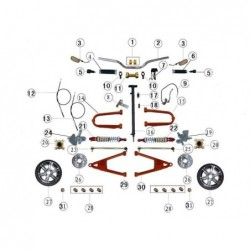 Disco de freno delantero quad Jinling 300 cc