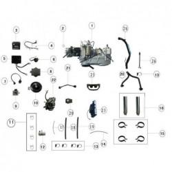 Radiador de agua quad Jinling 250-300 cc