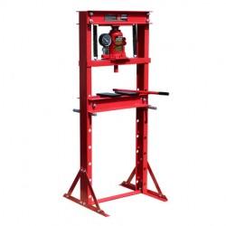 Prensa hidráulica de taller 12T con indicador de presión