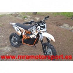 Minimoto Cross Eléctrica IMR MX800, baterías de litio, llantas 12-10