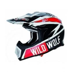 Casco shiro de cross en carbono modelo wild wolf